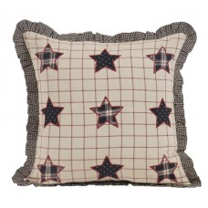 Bingham Star Pillow with Applique Stars