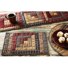 Millsboro Quilted Log Cabin Block Placemat Set