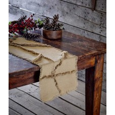 Burlap Natural Reverse Seam Table Runner