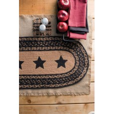 Farmhouse Jute Stars Table Runner