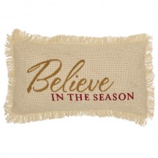 Creme Burlap Believe in the Season Pillow