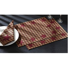 Burgundy Star Placemat Set
