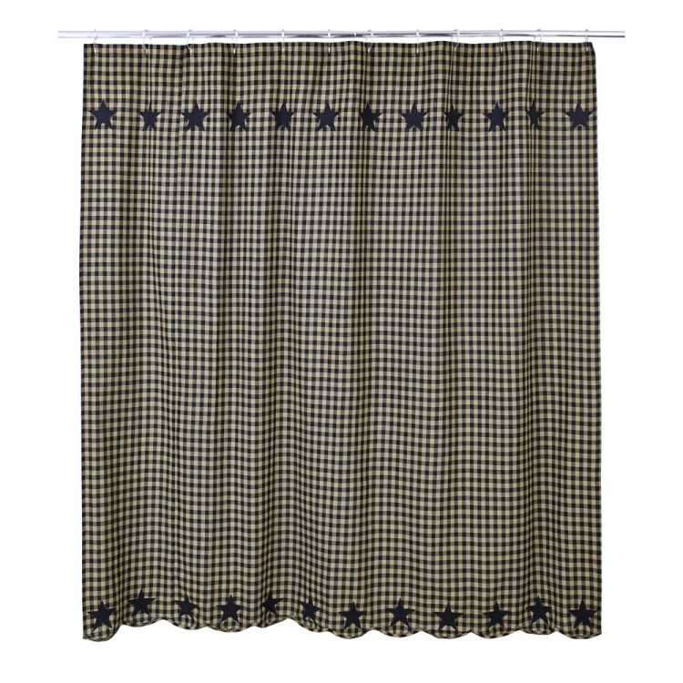 Black Star Shower Curtain By VHC Brands