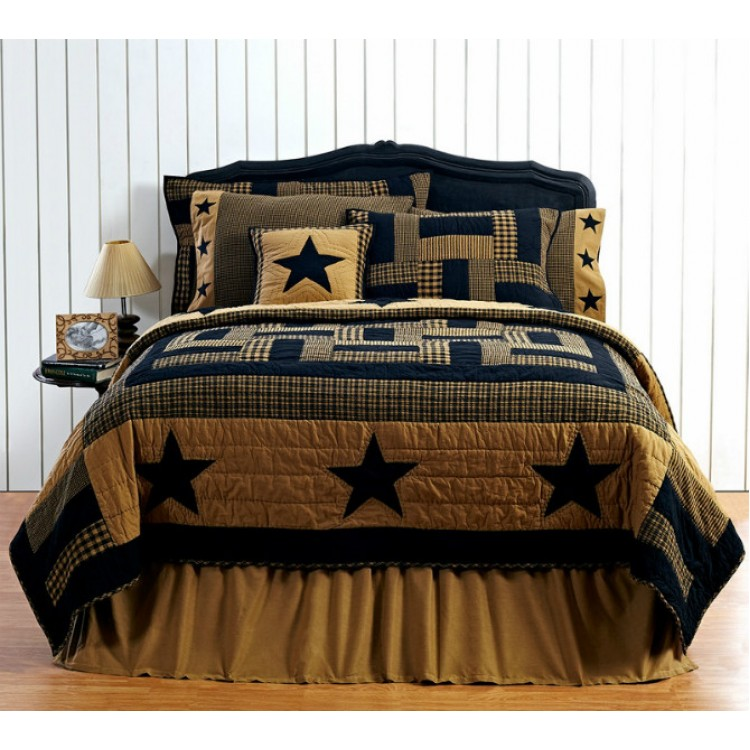 solid khaki bed skirt by vhc brands